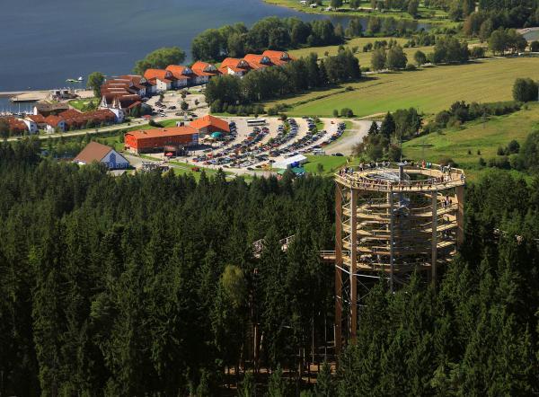 Lipno trasa w koronach drzew. Fot. LIPENSKO
