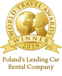 polands leading car rental company 2019 winner shield 256